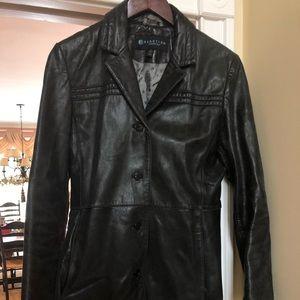 Kenneth Cole Reaction Leather Coat Size Medium M